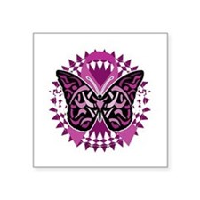 """Crohns-Disease-Butterfly-Tr Square Sticker 3"""" x 3"""""""