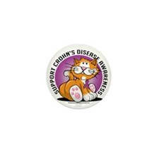 Crohns-Disease-Cat Mini Button