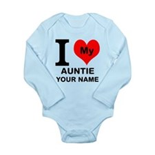 I Heart My Auntie (Custom) Body Suit