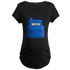 writerbutton Maternity Dark T-Shirt