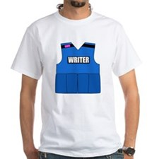 writerbutton White T-Shirt