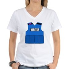 writerbutton Women's V-Neck T-Shirt