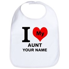 I Heart My Aunt (Custom) Bib