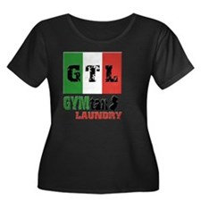 GTL-2-li Women's Plus Size Dark Scoop Neck T-Shirt