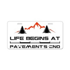 2-Mountain.eps Aluminum License Plate