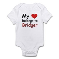 My heart belongs to bridger Infant Bodysuit