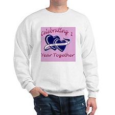 celebrating heart 1pink Sweatshirt