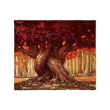 ENCHANTED TREE HORIZONTAL Throw Blanket