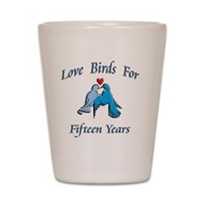 love birds 15 Shot Glass