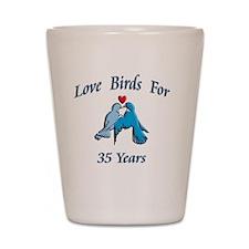 love birds 35 Shot Glass