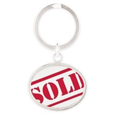 sold Oval Keychain