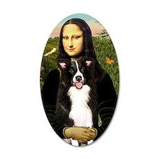 Mona Lisa - Border C - redon 35x21 Oval Wall Decal