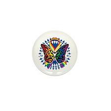 LGBTQIA-Butterfly-Tribal-blk Mini Button