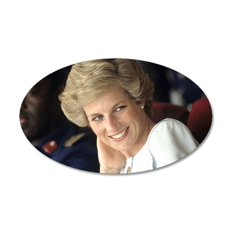 Princess Diana Nigeria 20x12 Oval Wall Decal