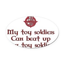 TDGtoysoldiers Oval Car Magnet