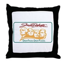 Welcome to South Dakota - USA Throw Pillow