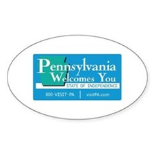 Welcome to Pennsylvania - USA Oval Decal