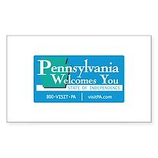 Welcome to Pennsylvania - USA Sticker (Rectangular