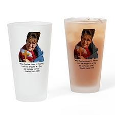 fascist sarah 5 Drinking Glass