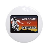 Welcome to Nevada - USA Ornament (Round)