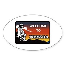 Welcome to Nevada - USA Oval Decal