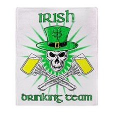 irishdrinking3text Throw Blanket