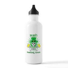 irishdrinking3text Water Bottle