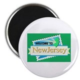"Welcome to New Jersey - USA 2.25"" Magnet (10 pack)"