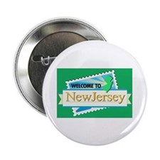 "Welcome to New Jersey - USA 2.25"" Button (100 pack"