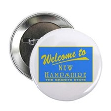 "Welcome to New Hampshire - US 2.25"" Button (100 pa"