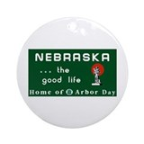 Welcome to Nebraska - USA Ornament (Round)
