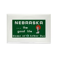 Welcome to Nebraska - USA Rectangle Magnet