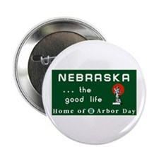 "Welcome to Nebraska - USA 2.25"" Button (100 pack)"