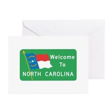 Welcome to North Carolina - USA Greeting Cards (Pa
