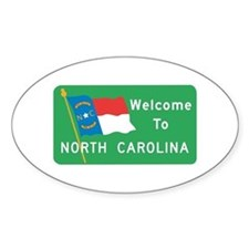 Welcome to North Carolina - USA Oval Decal