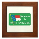 Welcome to North Carolina - USA Framed Tile