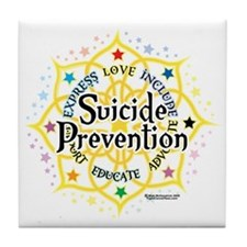Suicide-Prevention-Lotus Tile Coaster
