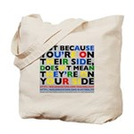 side/side tote bag