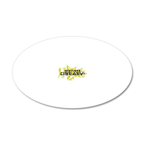 LIBRARY 20x12 Oval Wall Decal