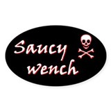 Saucy Wench Pirate Oval Decal