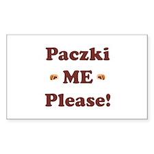Paczki Me Please Rectangle Decal