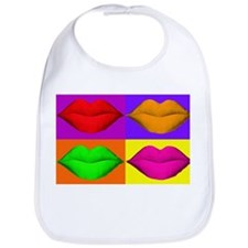 Pop Art Kiss Bib