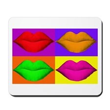 Pop Art Kiss Mousepad