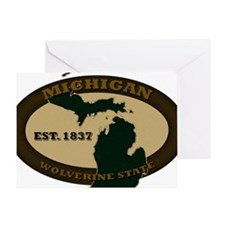 Michigan Est 1837 Greeting Card