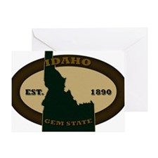 Idaho Est 1890 Greeting Card