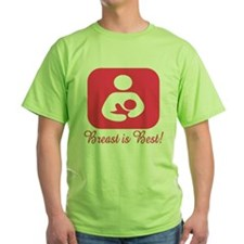 Breastfeeding Symbol in Pink T-Shirt