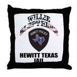 Hewitt Texas Jail Throw Pillow