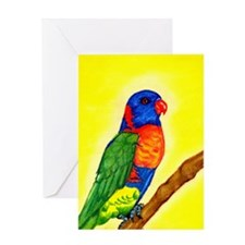 Rainbow Lorikeet Greeting Cards