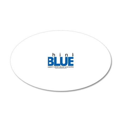 Child-Abuse-THINK-Blue 20x12 Oval Wall Decal