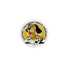 Childhood-Cancer-Dog Mini Button